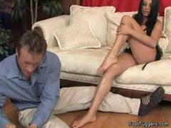 Hot And Amazing Footjob Video