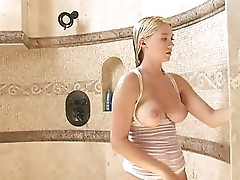 Alison under shower part2