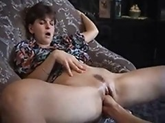 Housewife asks a plumber to fist her love tunnel