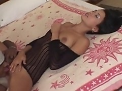 Slim Latina spreads pussy lips & shows gaping cunt