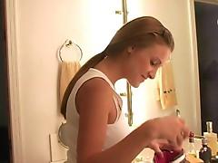 Andrea amateur girl lingerie play