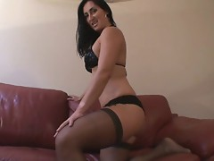 Cum On My Nylon Thigh - Jerk Off Instructions With Countdown