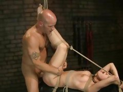 Blistering Asphyxia is slammed up her dripping slot