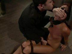Sassy Cassandra Nix gets tied up and finger fucked
