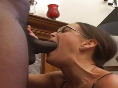 Sexy slut Cheyenne Hunter drools on this black cock