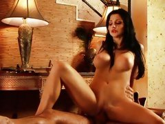 Alluring Aletta Ocean bounces her pussy on a huge dick