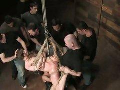 Princess Donna tied with rope and hang got gang bang