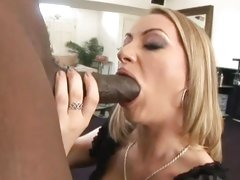 Dark dick lover Aline swallows a massive dick