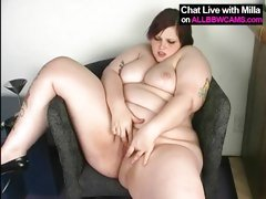 BBW MILLA MONROE PLAYING WITH HERSELF 2
