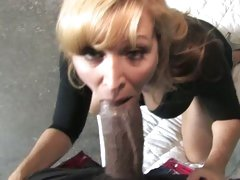 Nicole Moore milf suck black cock while son is watching