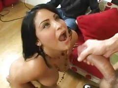 Sophia Lomeli get her hot twat filled with cum after a hard fuck