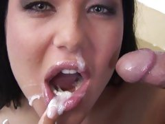 Angelica Heart just got through licking the fuck out of her man's cock