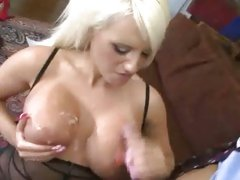 Jacky Joy bent over jamming cock deep in pink socket