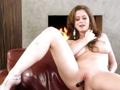 Emily Addison let a vibrator tickle her cunt