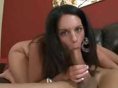 Cock milking brunette works shaft then rides it hard