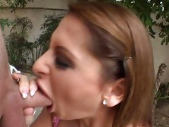 Scorching Alison Star drools on this throbbing prick