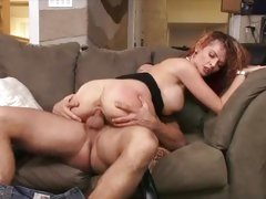 Blistering bitch Joslyn James rides this cock