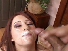 Cameon Love get her face covered with white cum