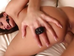 Wild slut Alison Star gets dicked up her flange flaps