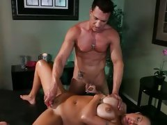Mariah Milano get her cunt fuck with dildo and tits rub