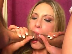 Sensual Harmony Rose gets her mouth stuffed with cock
