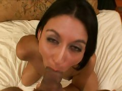 Sexy MILF Nikki Daniels drools on this tasty cock