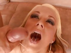Sexy Brandy Blair loves getting showered in cock sauce