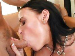 Amazing Vanilla DeVille gobbles down this skin flute