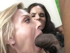 Brooke Biggs and Mackenzee Pierce suck hard cock