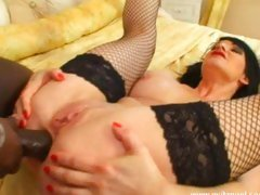 Huge titty bitch Daisy Rock getting her ass pounded by a big dick
