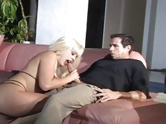 Sizzling Layla Jade drools on Peter North's fuck pole