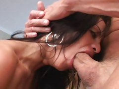 Horny Jayna Oso gobbles down on Peter North's prick