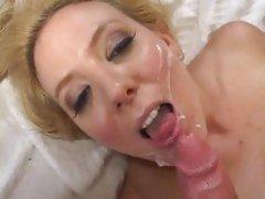 Vivacious Kara Nox gets her face splattered with cum