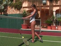 Sexy Little Caprice looks hot as hell playing tennis