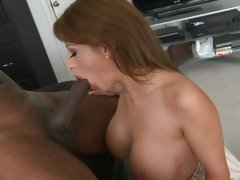 Vivacious Alison Star enjoys slurping on a massive dick