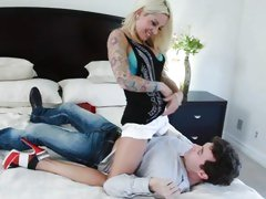 Amazing Helly Mae Hellfire seduces this horny hunk