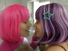 Hot wigged starlets Belladonna and Misti Dawn