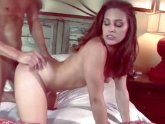 Raging Gracie Glam is crammed up her wet vag