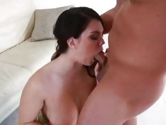 Luscious Alison Tyler throats fucks a stiff meat pole