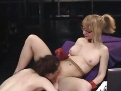 Sexy Justine Jolie goes down on Nina Hartley