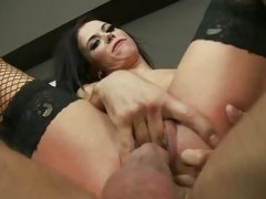 Megan Coxxx is stuffed to the limit by a big dick