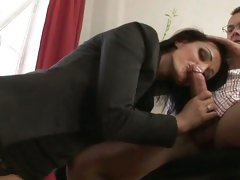 Luscious Cameron Cruise drools over a thick fuck shaft