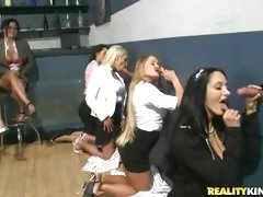 Ava Addams and friends at the glory hole
