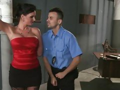 Alluring Phoenix Marie seduces this horny cop