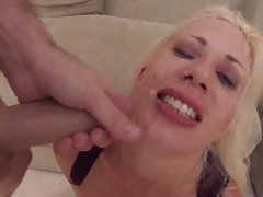 Saucy Puma Swede gets splashed with cock cream