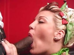 Nasty Candy Monroe drools on this chocolate manaconda