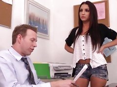 Horny coed Lexi Brooks seduces her teacher