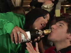 Angelica Heart & her girlfriends have a drunken orgy