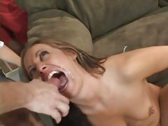 Tart Kylee King gets a mouth full off hot cock juice
