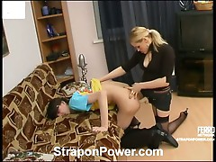 Susanna and Pete strapon domination action